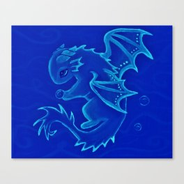 Water Dragon of the Deep Canvas Print