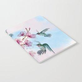 Cherry Blossom and Hummingbirds Notebook