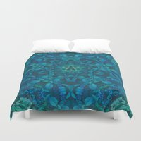 chuck Duvet Covers featuring Sea of Leaves by Jellyfishtimes