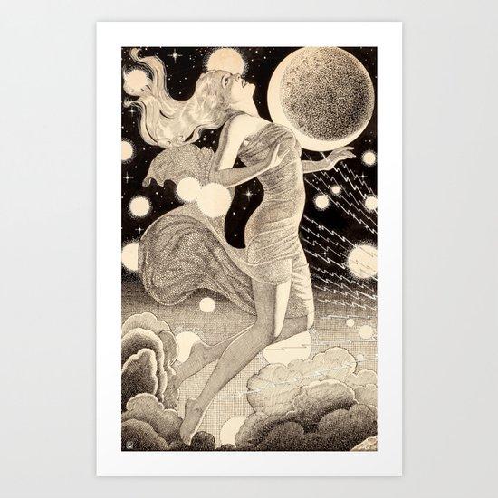 Vintage Sci Fi Illustrations Retro Science Fiction: Vintage Science Fiction Stars And Planets Pulp Story