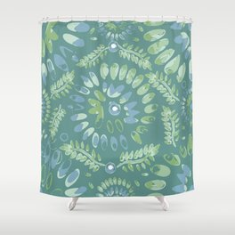 Pop abstract watercolor - geometric composition  Shower Curtain
