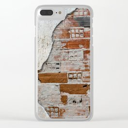 Cracked Facade Clear iPhone Case