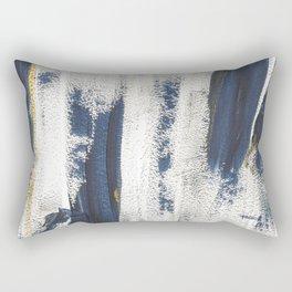 Navy Gold Pattern Rectangular Pillow