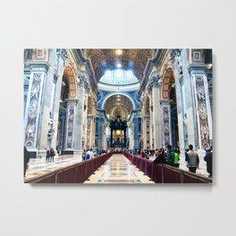 St Peter's Basilica - Majestic Interior Metal Print