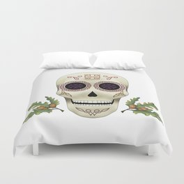 Knotwork Skull Duvet Cover