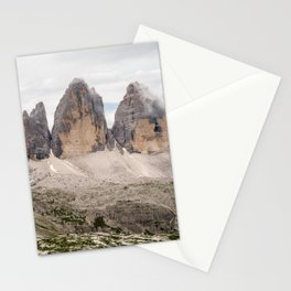 Mountain view Tre Cime di Lavaredo Italian Dolomites Stationery Cards