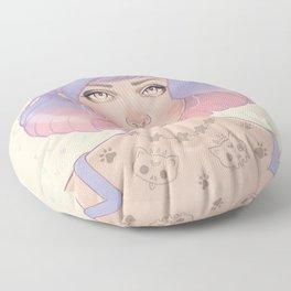 Cat Paw Tattoo Floor Pillow