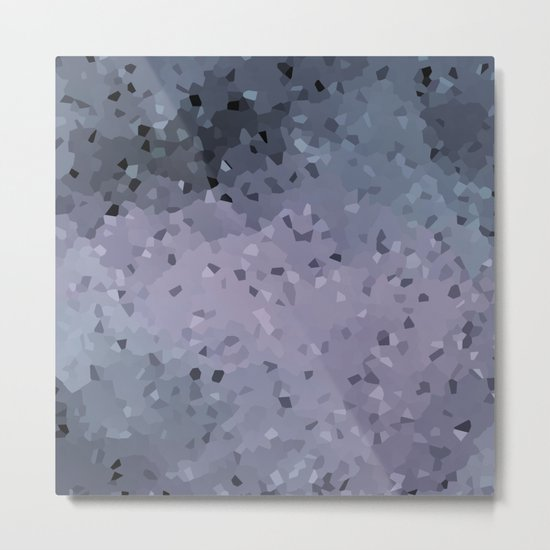 Abstract geometric pattern in blue grey and purple colours . Crystals Metal Print