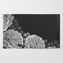 Flowers in the night Rug