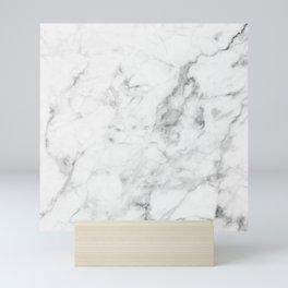 White Marble Mini Art Print