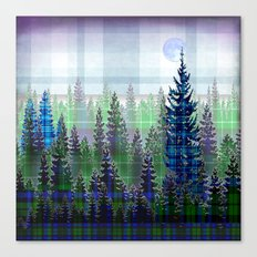 Plaid Forest Canvas Print