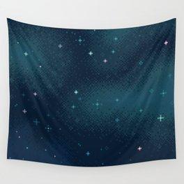 Pixel Marine Starlight Galaxy Wall Tapestry