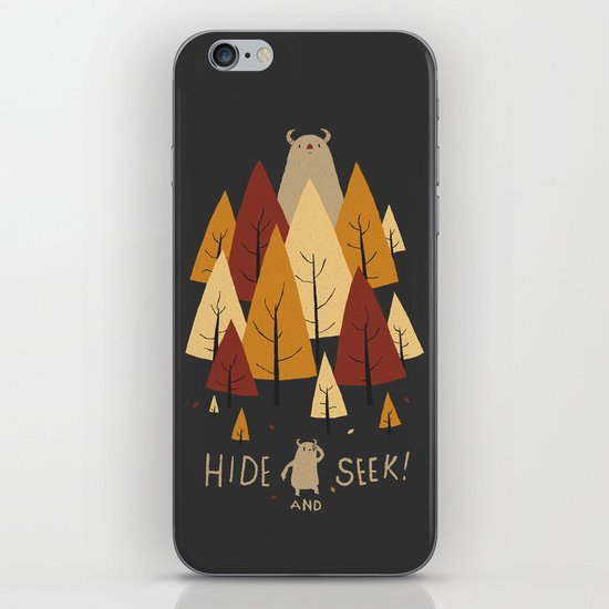 hide and seek iPhone & iPod Skin