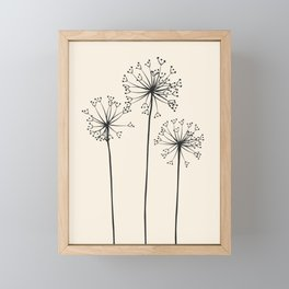 Dandelions Framed Mini Art Print