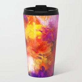 Composition #58 (purple, yellow and red) Metal Travel Mug