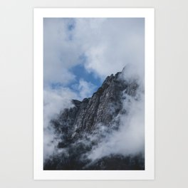 Mountain through Clouds // Landscape Photography Art Print