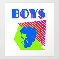 boys Art Prints featuring Boys by Two Penny Prince
