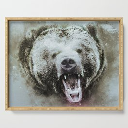 Bear Grizzly Animal Serving Tray