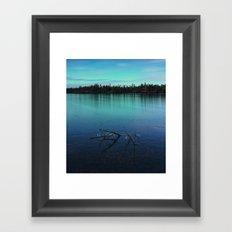 Faint Northern Glow Framed Art Print