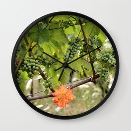 the orange leaf Wall Clock