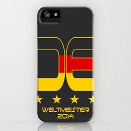 Deutschland Weltmeister 2014 iPhone Case