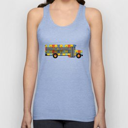 Autism Awareness School Bus Unisex Tank Top
