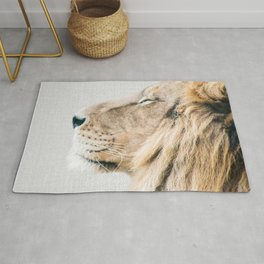 Lion Portrait - Colorful Rug