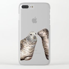 Grey seals(Halichoerus grypus) Clear iPhone Case