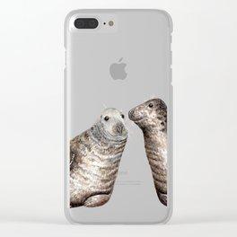 Grey seals(Halichoerus grypus) Clear iPhone Case
