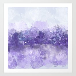 Choppy Purple Ocean Water Art Print