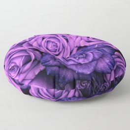 Purple Roses Floor Pillow