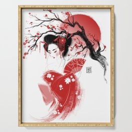 Red Geisha Serving Tray