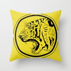 Tiger in a circle Throw Pillow