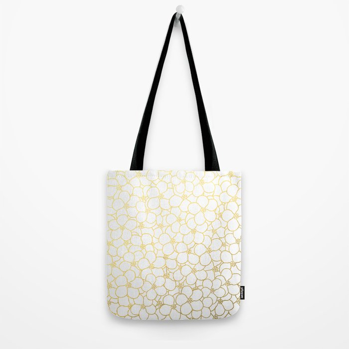Forget Me Knot White Gold Tote Bag