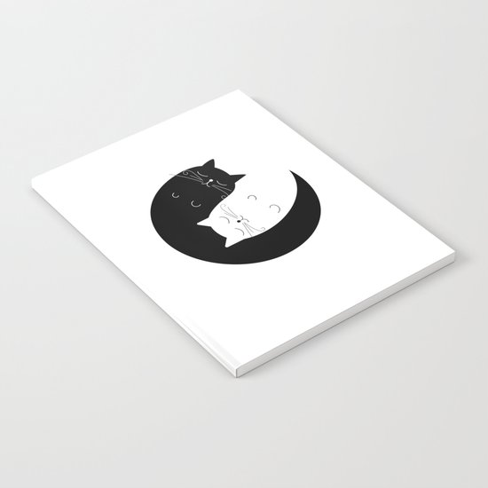 Ying yang cats Notebook