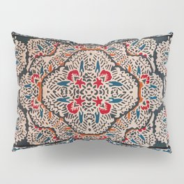 N148 - Heritage Boho Berber Traditional Moroccan Style Illustration  Pillow Sham