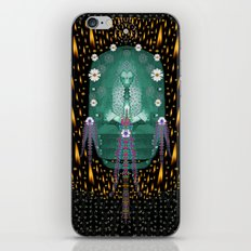 Temple of yoga in light peace and human namaste style iPhone Skin