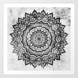 BLACK JEWEL MANDALA Art Print