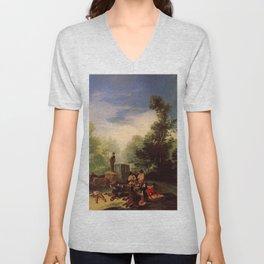 Francisco de Goya - Asalto al coche Unisex V-Neck