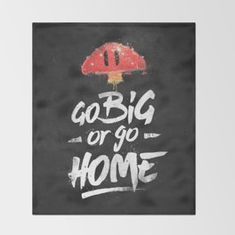 Go Big or Go Home Mario Inspired Smash Art Throw Blanket