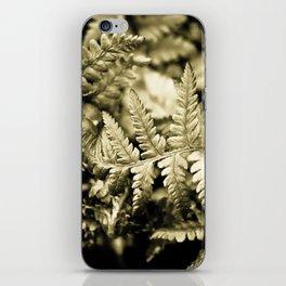 Metallic Fronds iPhone Skin