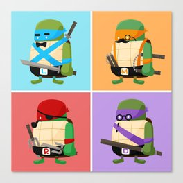 Turtles in Disguise Canvas Print