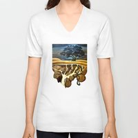 geology V-neck T-shirts featuring Sleep At Last by Patricia Howitt