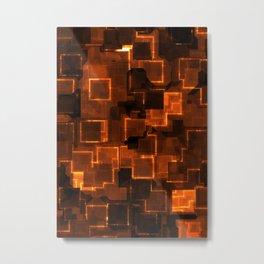 Cyber orange glow Metal Print