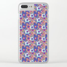 Modern decorative flowers Clear iPhone Case