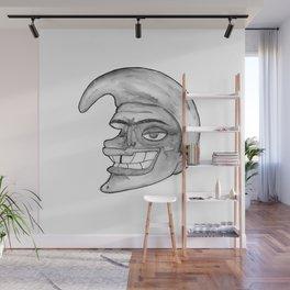 Head watercolor b&w Wall Mural