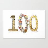the 100 Canvas Prints featuring 100 by Jessie Vittoria