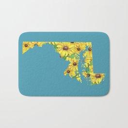 Maryland in Flowers Bath Mat