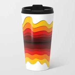 Fire wave Metal Travel Mug