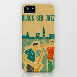 Black Sea Jazz iPhone Case